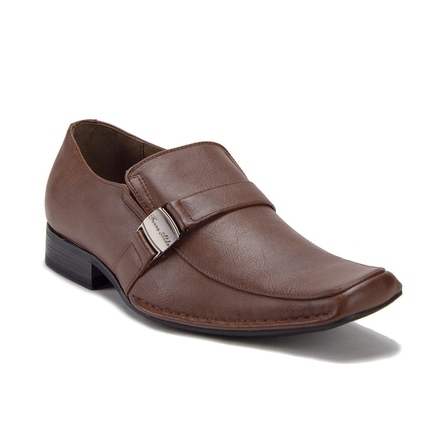 Ferro Aldo Men's 19387 Buckle Slip On Casual Dress Loafers Shoes - Jazame, Inc.