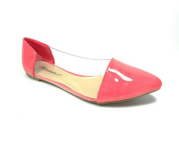 Women's Slip On Lucite Ballerina Pointy Toe Flat Shoes Dia-04 - Jazame, Inc.