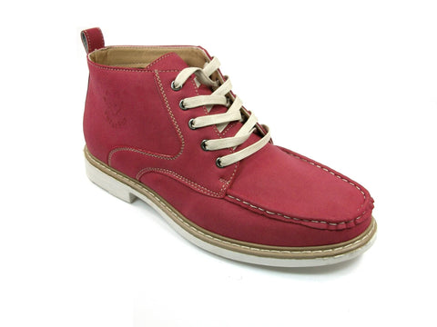 Men's Polar Fox Ankle High Lace Up Casual Boot 506011 Red-396 - Jazame, Inc.