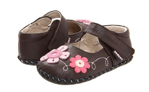 Infant Girls Pediped Originals Leather Mary Jane Shoes Sadie-113-Brown