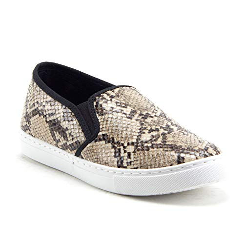 Women's Blair Slip On Leopard Snake Print Platform Sneakers Shoes - Jazame, Inc.