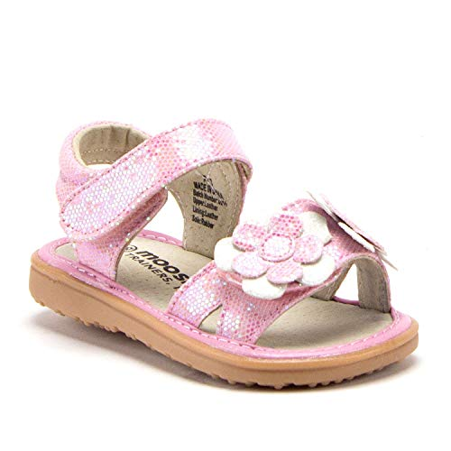 J'aime Aldo Toddler Girls Squeaky Open Toe Ankle Strap Glitter Dress Sandals - Jazame, Inc.