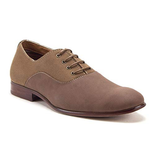 Men's Classic Nubuck Round Toe Lace Up Oxfords Dress Shoes - Jazame, Inc.