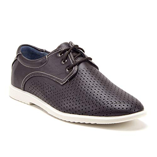 Men's Luke-01 Casual Round Toe Perforated Driving Sneakers Shoes - Jazame, Inc.