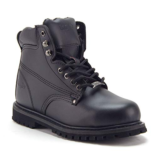 Men's 605S Genuine Leather Steel Toe Outdoor Construction Safety Work Boots - Jazame, Inc.