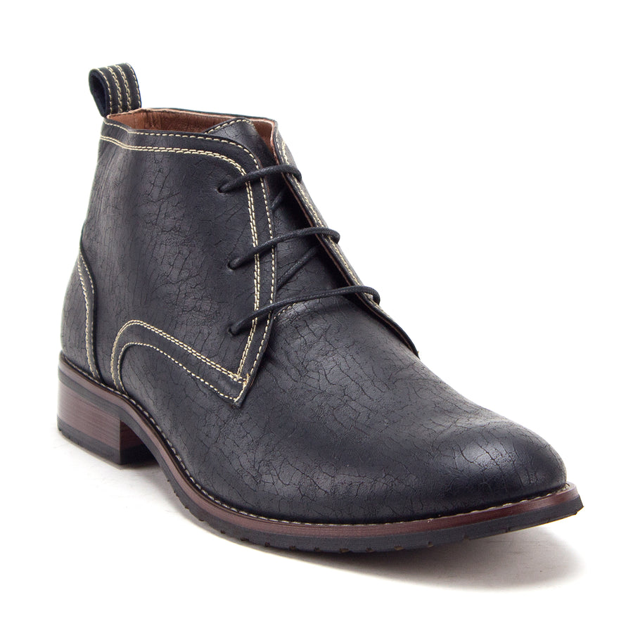 Men's 917129 Ankle High Distressed Lace Up Round Toe Chukka Dress Boots - Jazame, Inc.