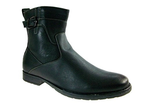 Men's 691 Calf High Round Toe Biker Dress Casual Boots - Jazame, Inc.