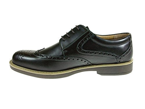 Men's Edison-12 Classic Wing Tip Lace Up Oxford Dress Shoes - Jazame, Inc.