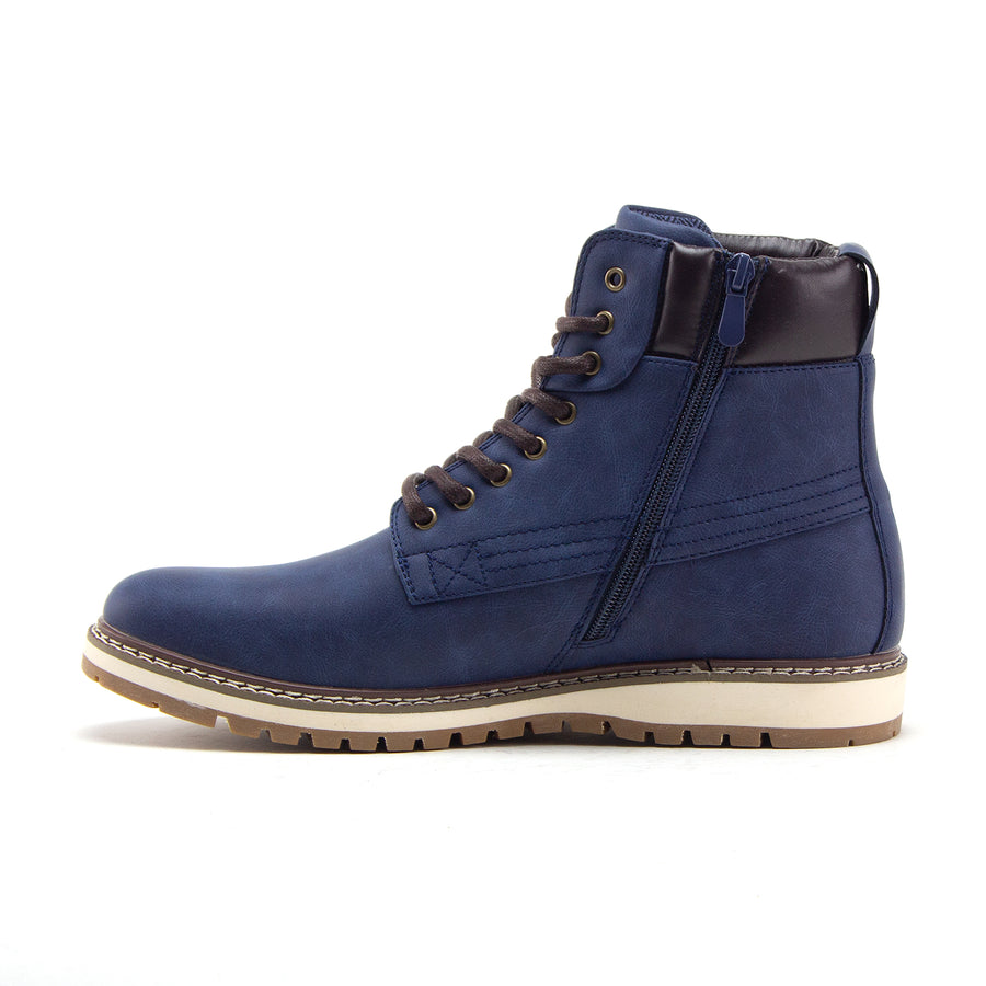 Men's C-2816 Tall Mid Chukka Casual Round Toe Zipped Sneaker Boots