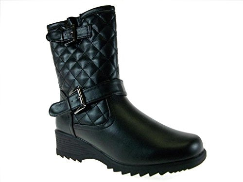 Women's Canada-04 Quilt Lined Calf High Winter Boots - Jazame, Inc.