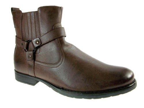 Men's 686 Ankle High Western Ridding Zippered Boots - Jazame, Inc.