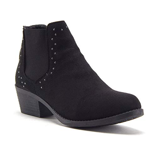 Women's Brenda Ankle High Slip On Chelsea Booties Embellished Dress Boots