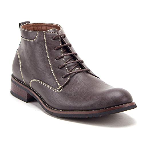 Jazamé Men's 917131 Distressed Round Toe Lace Up Ankle High Chukka Dress Boots - Jazame, Inc.