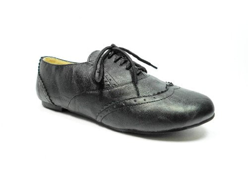 Women's Maya-04 Lace Up Blucher Wing Tip Oxfords Shoes - Jazame, Inc.