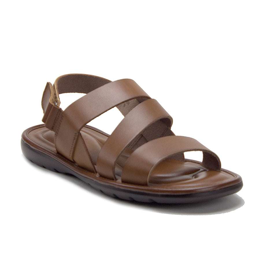 Men's 68732 Comfortable Leather Open Toe Strappy Gladiator Sling Back Sandals - Jazame, Inc.