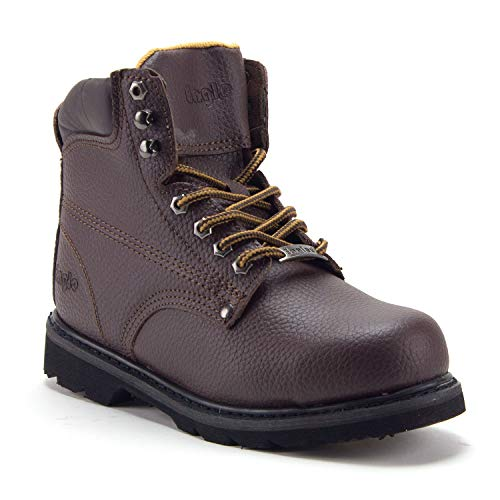 Men's 622S Genuine Leather Steel Toe Outdoor Construction Safety Work Boots - Jazame, Inc.