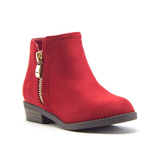 Jazamé Little Girls Ankle High Round Toe Bootie Fashion Chelsea Dress Boots