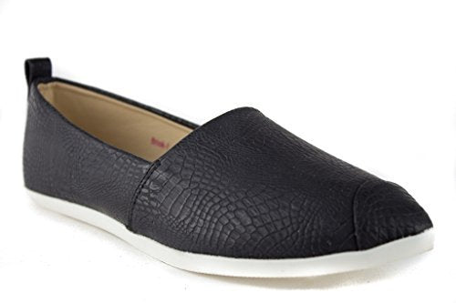 Women's Brook-1 Animal Textured Slip On Smoking Flats Shoes - Jazame, Inc.