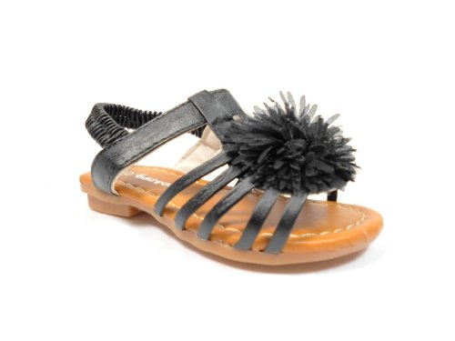Girl's 237 Toddlers Pom Pom Ankle Strap Sandals - Jazame, Inc.
