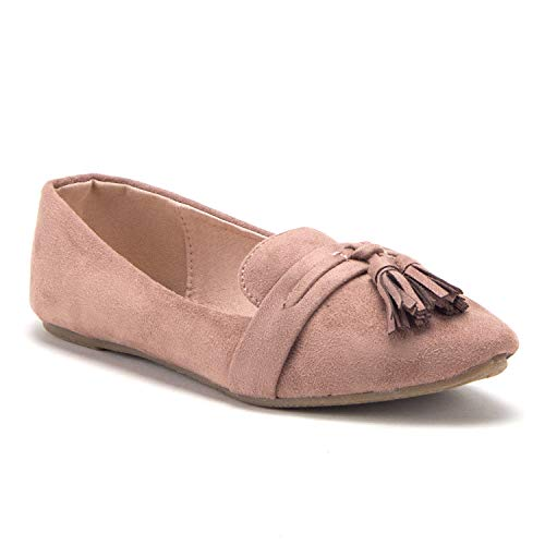 Women's Shilla-04 Luxe Tassel Smoking Flats Slip On Loafers Slippers Shoes - Jazame, Inc.
