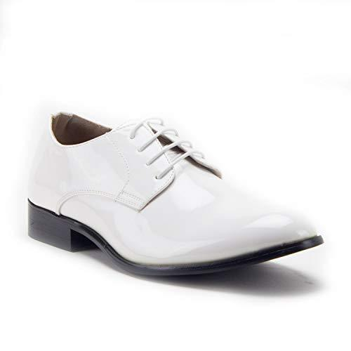 Men's 95101 Classic Patent Leather Formal Tuxedo Oxfords Dress Shoes - Jazame, Inc.