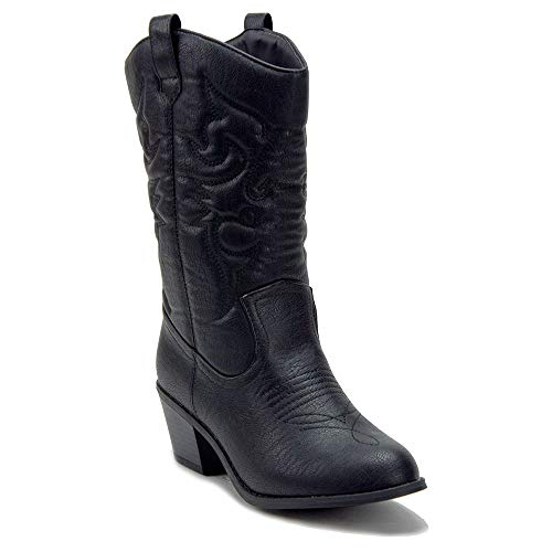 Women's TEX Tall Stitched Western Cowboy Cowgirl Dress Boots