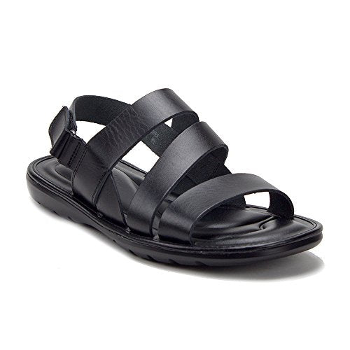 Men's 57621 Comfortable Leather Open Toe Strappy Gladiator Sling Back Sandals - Jazame, Inc.