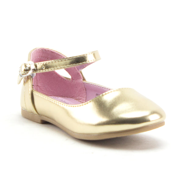 Little Toddler Girls' Round Toe Shimmer Mary Jane Flats Party Dress Shoes