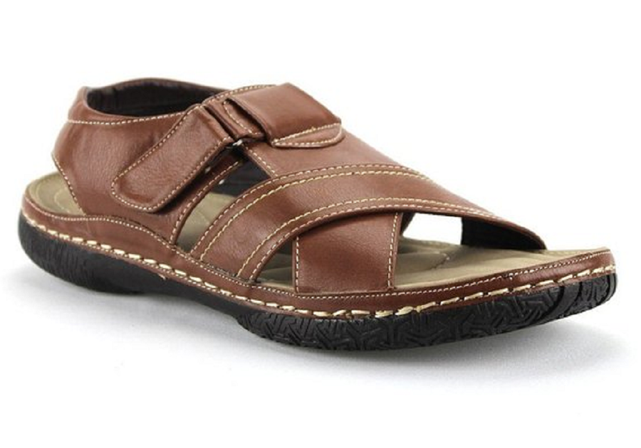 Mens Rocus Open Toe Comfort Walking Sandals JF3-41 Tan - Jazame, Inc.