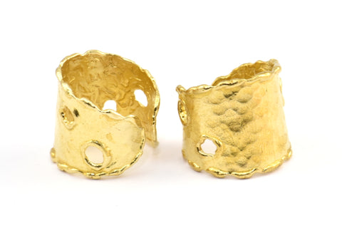 Brass Ethnic Ring, 2 Raw Brass Ring Settings E292