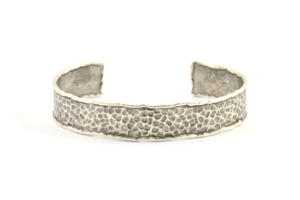 Antique Silver Cuff Bracelet, 1 Antique Silver Plated Cuff Bracelet Blank Bangle ( 14x150x0.80mm) Brc121