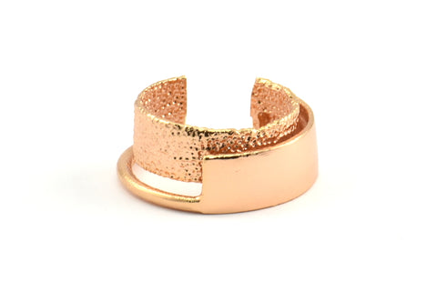 Rose Gold Adjustable Ring, 1 Rose Gold Plated Adjustable Rings N064 Q284