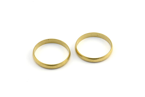 Engagement Ring Setting, 6 Raw Brass Engagement Ring Settings (17mm) MN78