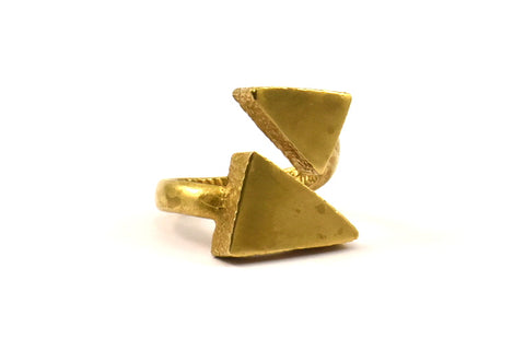 Brass Triangle Ring, 1 Boho Ring, Ethnic Ring, Raw Brass Triangle Rings U055