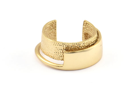 1 Gold Plated Brass Adjustable Rings N021 Q432
