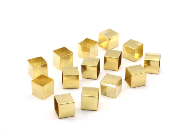 Raw Brass Tubes, 50 Raw Brass Square Tubes  (8x8mm) Bs1574
