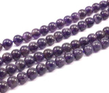 Amethyst 6 mm Round Gemstone Beads-Full Strand 15.5 inches