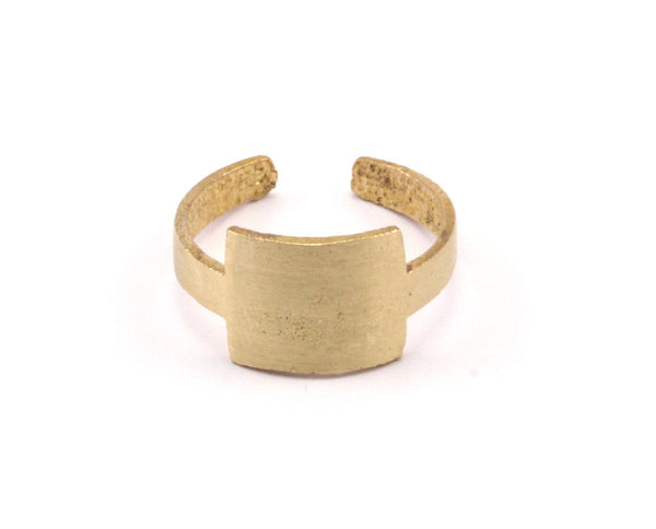 Brass Minimalist Rings - 5 Raw Brass Adjustable Minimalist Rings N060