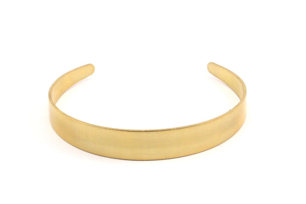 2 Raw Brass Cuff Bracelet Blank Bangle Without Holes ( Width 5 to 10mm)  BRC032