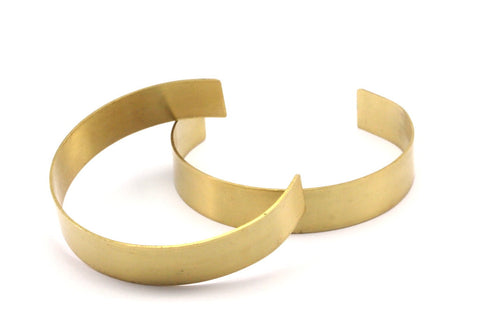 Bohemian Arm Cuff, 10 Raw Brass Cuff Bracelet Blank Bangles Without Holes (12x0.80mm) Brc014