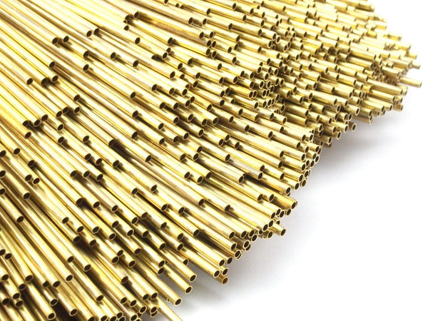 2mm Brass Himmeli Tubes, 24 Raw Brass Himmeli Diy Tube Beads, For Air Plants , Geometric Shapes Customize Size