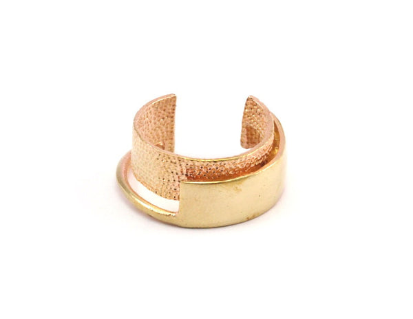 3 Raw Brass Adjustable Rings N021 N064
