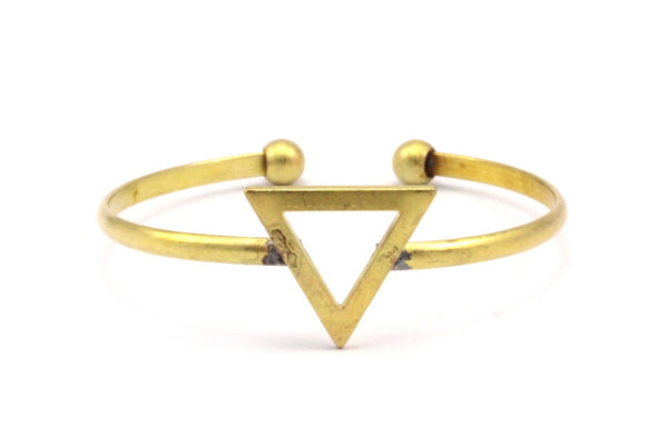 Brass Triangle Cuff, 2 Raw Brass Triangle Bracelets BRC231