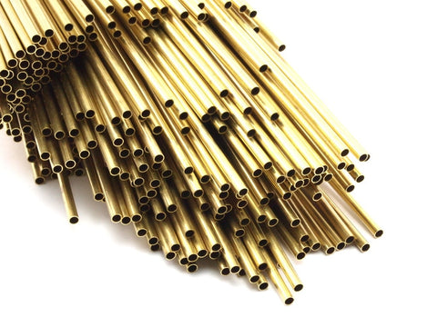 Brass Himmeli 2.5mm Tubes, 24 Raw Brass Himmeli DIY Round Tubes, for Air Plants , Geometric Shapes Customize Size -2.5mm