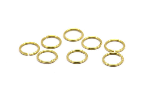 12mm Jump Ring - 50 Raw Brass Jump Rings (12x1.2mm) D259
