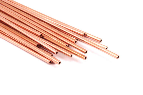 Himmeli Copper Tubes - 20 Raw Copper Tube Beads (2x130mm) D334