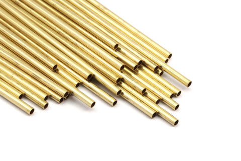 2mm Brass Tubes Customize Size -24 Pcs Raw Brass Plain Tube Beads - 45mm-50mm-60mm-70mm-80mm-90mm -