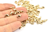 Gold Plated Parrot, 12  Gold Plated Brass Lobster Claw Clasps (10x5mm) A0364 Q058
