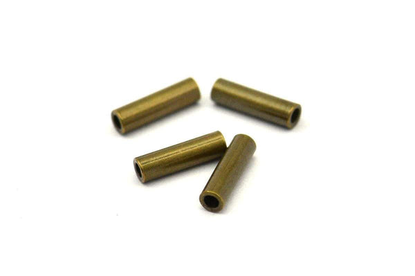 50 Pcs 7x2 Mm Antique Bronze Tone Metal Tube Spacer Bead ,charms,findings  K192