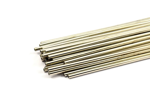 2mm Nickel Tubes Customize Size -24 Pcs Nickel Plated Brass Plain Tube Beads - 45mm-50mm-60mm-70mm-90mm -